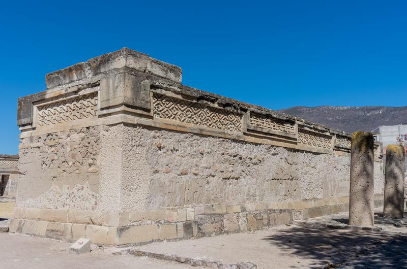 Ruins in Mitla near Oaxaca city. Zapotec culture center in Mexico. Ruins in Mitla near Oaxaca city. The most important of the Zapotec culture centers in Mexico royalty free stock photo