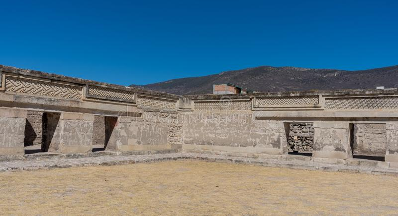 Ruins in Mitla near Oaxaca city. Zapotec culture center in Mexico. Ruins in Mitla near Oaxaca city. The most important of the Zapotec culture centers in Mexico stock photo
