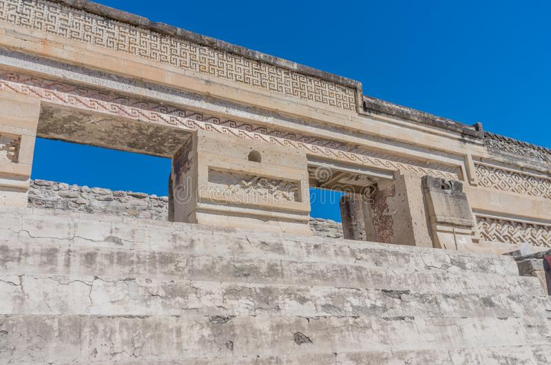 Ruins in Mitla near Oaxaca city. Zapotec culture center in Mexico. Ruins in Mitla near Oaxaca city. The most important of the Zapotec culture centers in Mexico stock images