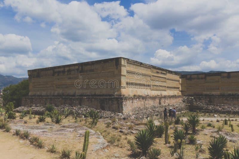 Ruins of Mitla in Oaxaca Mexico. Oaxaca, Oaxaca / Mexico - 21/7/2018: Detail of the ruins of prehispanic Mitla in Oaxaca Mexico royalty free stock images