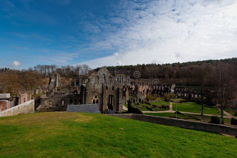 Ruins monastery Abbey Villers la Ville, Belgium royalty free stock photo