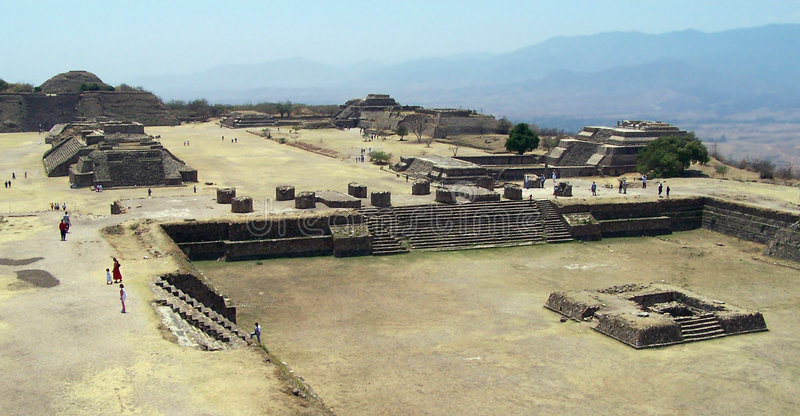 Ruins of Monte ALban. royalty free stock photos