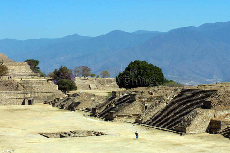 Ruins, Monte Alban, Mexico. Ancient ruins on Monte Alban in Mexico stock image