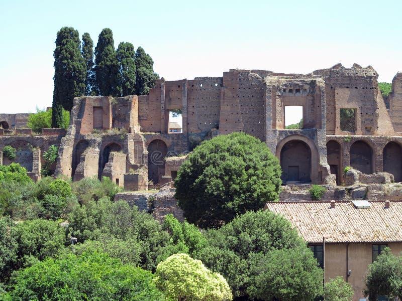 Ruins near circus maximus in Rome, Italy, Therms of Caracalla royalty free stock photos