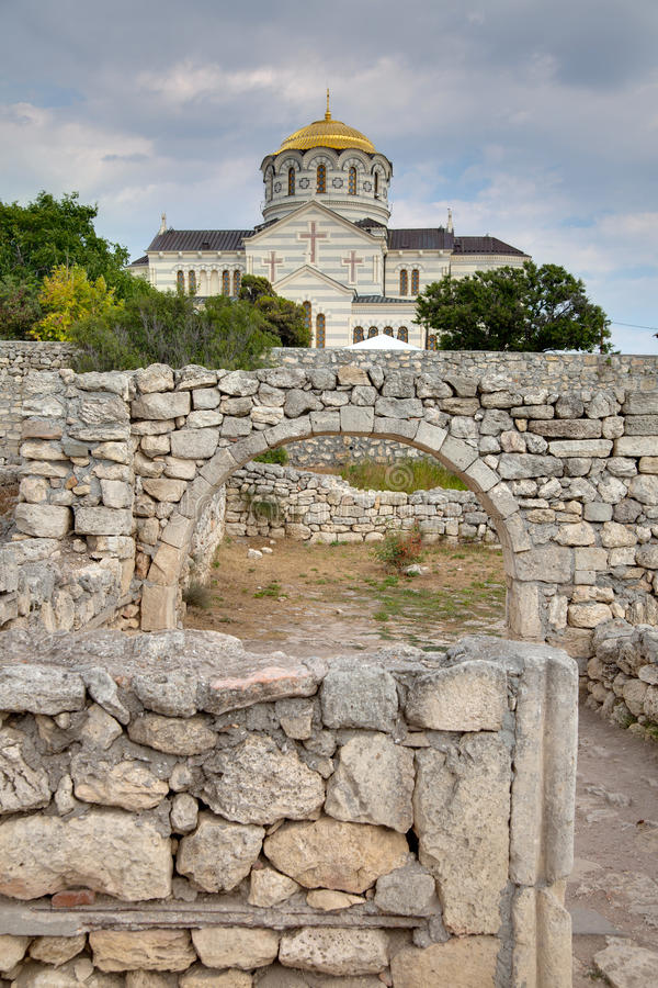 Free Ruins Of Ancient Greek Colony Khersones Stock Photos - 25971093
