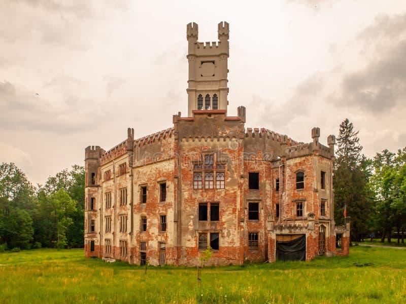 Ruins of old castle in Cesky Rudolec, Czech Republic royalty free stock image