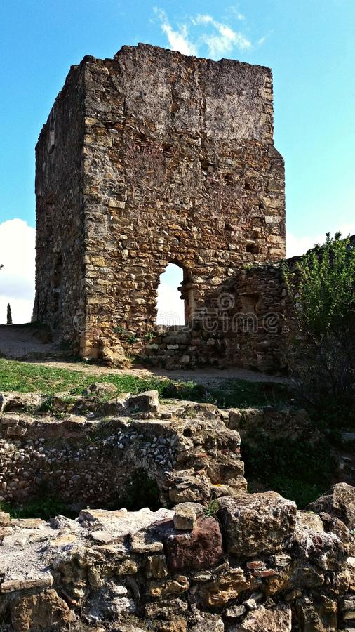Ruins of an old castle royalty free stock photos