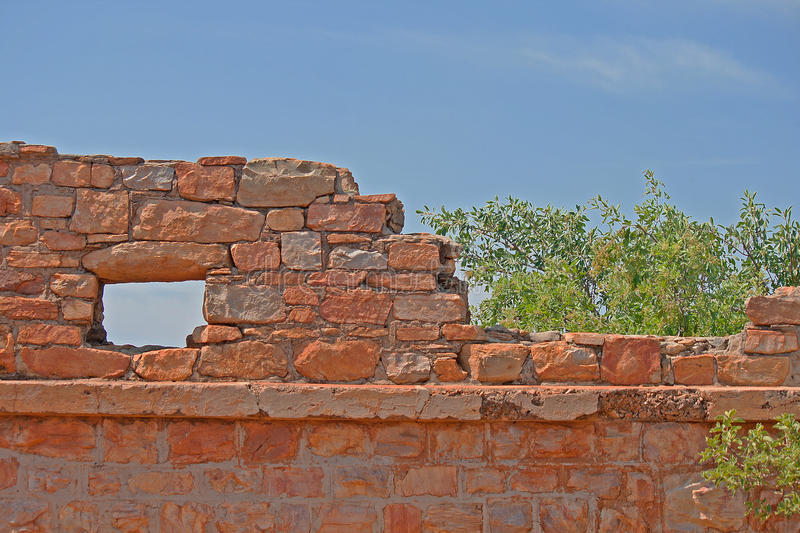 RUINS OF AN OLD FORT royalty free stock photography