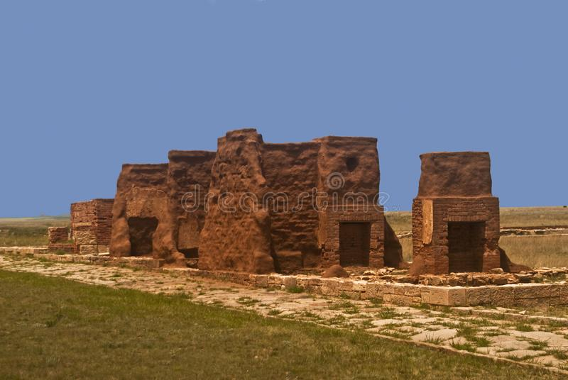 Download Ruins of Old Fort Union stock image. Image of historic - 17065281