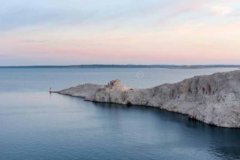Old fortress on Pag island royalty free stock photography