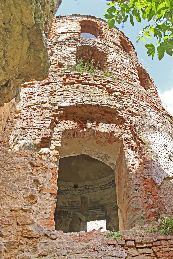 Ruins of old fortress, Ukraine royalty free stock photo