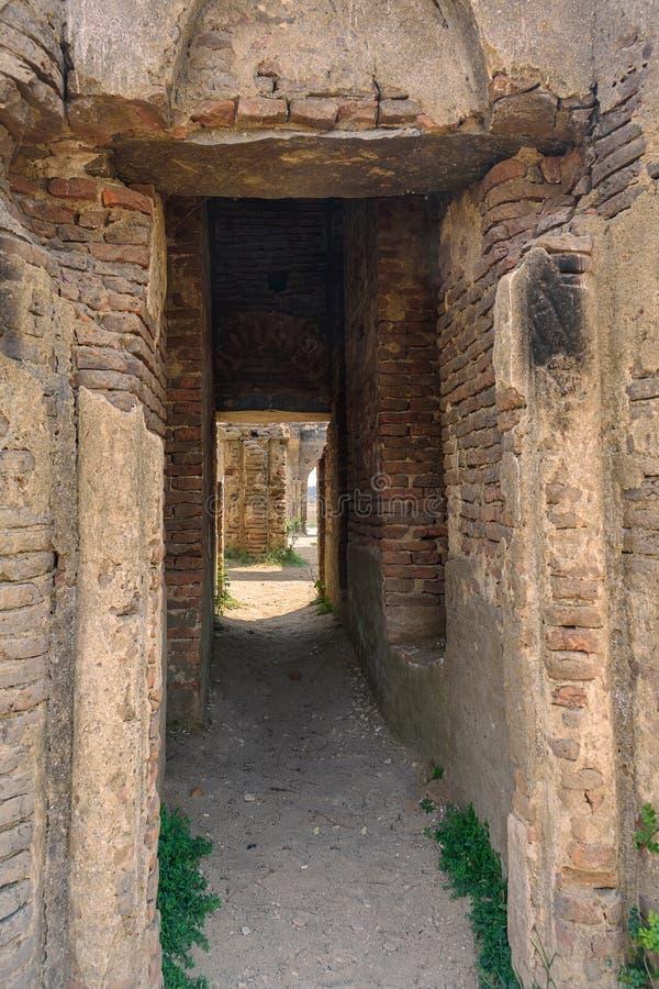 Ruins of old French Rosary church, Settihalli, Karnataka stock photos