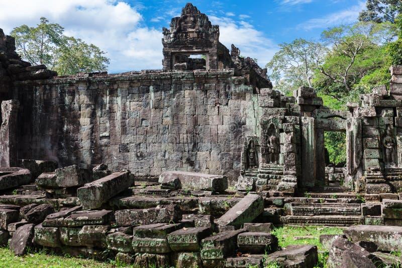 Ruins old Preah Khan temple, Angkor. Ruins ancient Preah Khan temple in Angkor stock photography