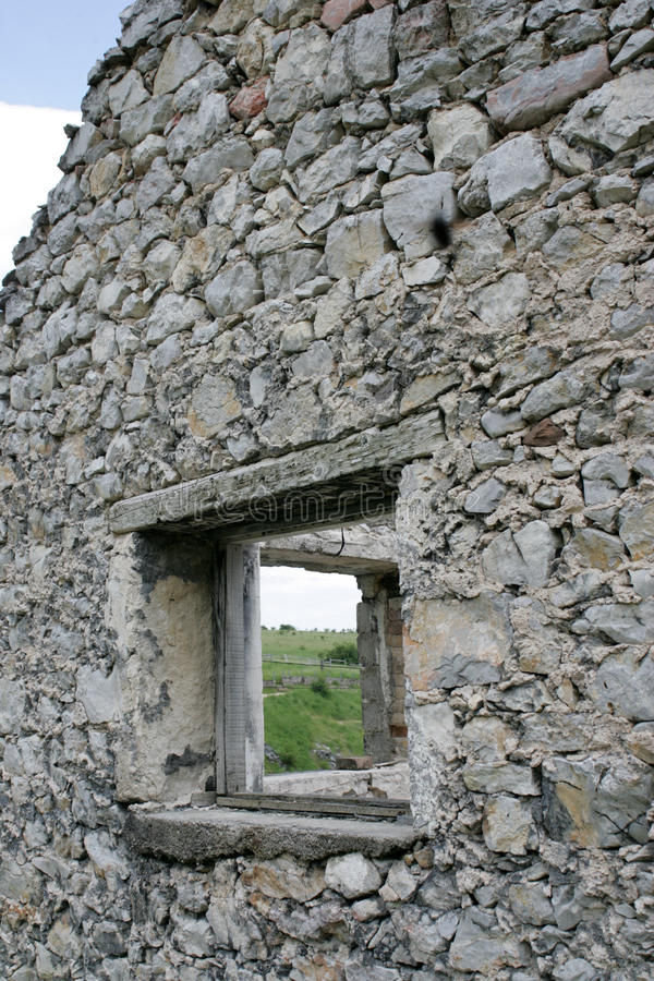 Ruins Of Old Stone House Stock Photography