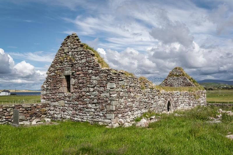 Ruins of an old Irish Church stock photos