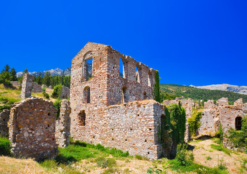 Download Ruins Of Old Town In Mystras, Greece Stock Image - Image: 23124567