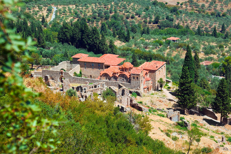 Download Ruins Of Old Town In Mystras, Greece Stock Image - Image: 26923079