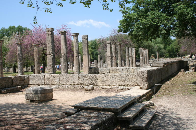 Download The Ruins Of Olympia, Greece Stock Image - Image of fire, place: 25633143