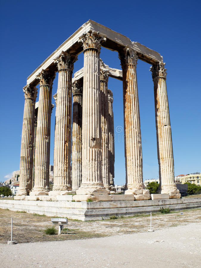Ruins of Olympian Zeus temple, Greece