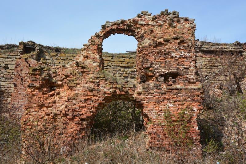 Ruins. Oreshek fortress in Shlisselburg. Saint-Petersburg district stock image