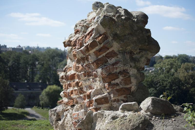Ruins of the other building on the territory of the Archaeological Museum royalty free stock photo