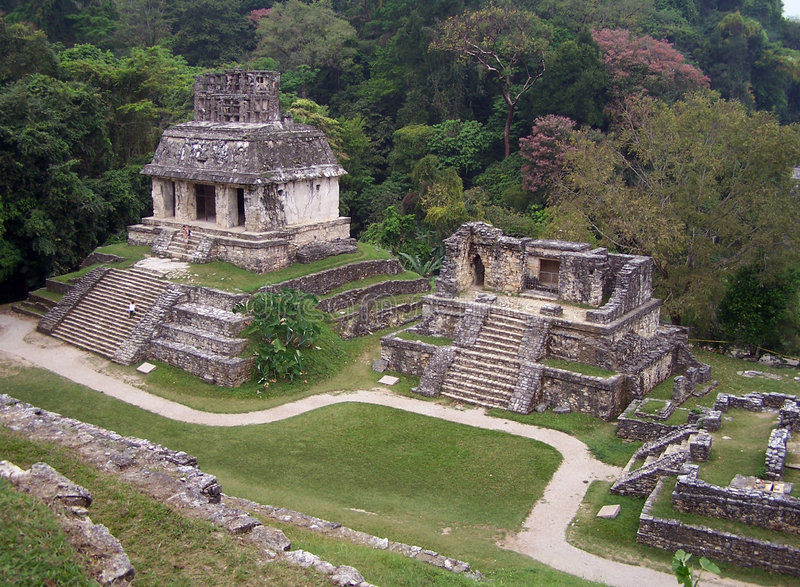 Ruins of Palenque stock photos