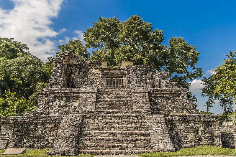 Ruins of Palenque in Chiapas Mexico stock photo