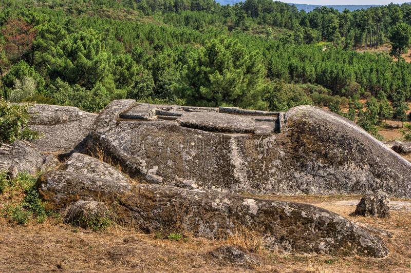 Ruins of Panoias, an ancient roman temple royalty free stock photography