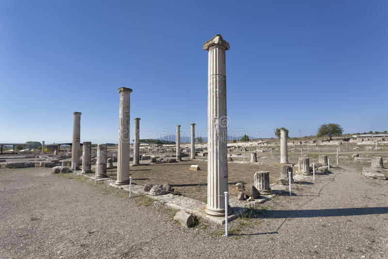 Ruins in Pella, Greece royalty free stock photo