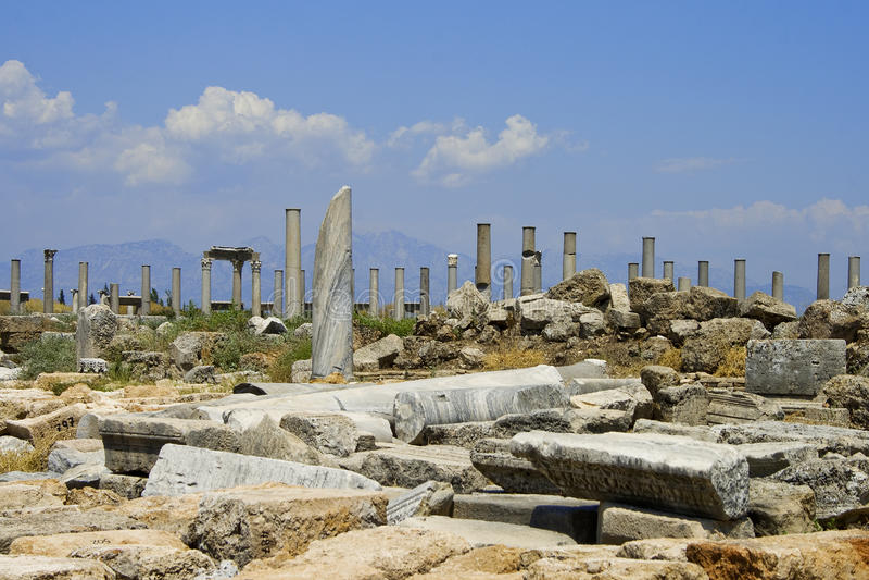 Ruins In Perga Stock Photo