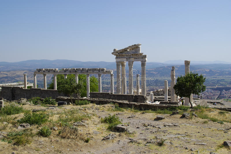 The ruins of Pergamon, birthplace of Hippocrates. royalty free stock image