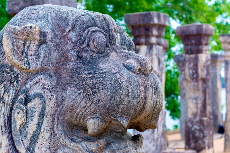 The Ruins Of Polonnaruwa in Sri Lanka. The Ruins Of Polonnaruwa, Sri Lanka. Polonnaruwa Is The Second Most Ancient Of Sri Lankas Kingdoms royalty free stock images