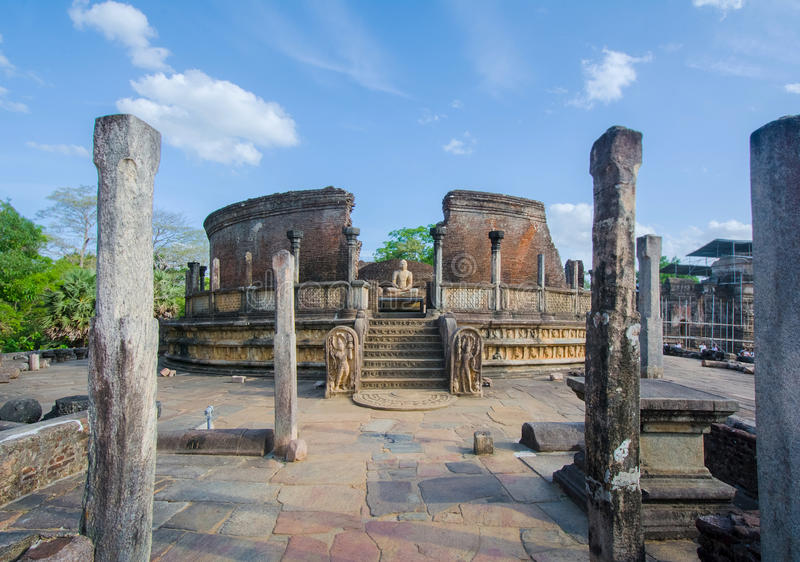 The Ruins Of Polonnaruwa in Sri Lanka. The Ruins Of Polonnaruwa, Sri Lanka. Polonnaruwa Is The Second Most Ancient Of Sri Lankas Kingdoms stock images
