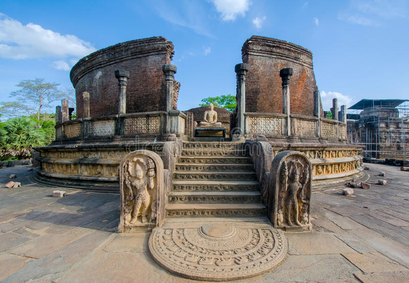 The Ruins Of Polonnaruwa in Sri Lanka. The Ruins Of Polonnaruwa, Sri Lanka. Polonnaruwa Is The Second Most Ancient Of Sri Lankas Kingdoms stock photography
