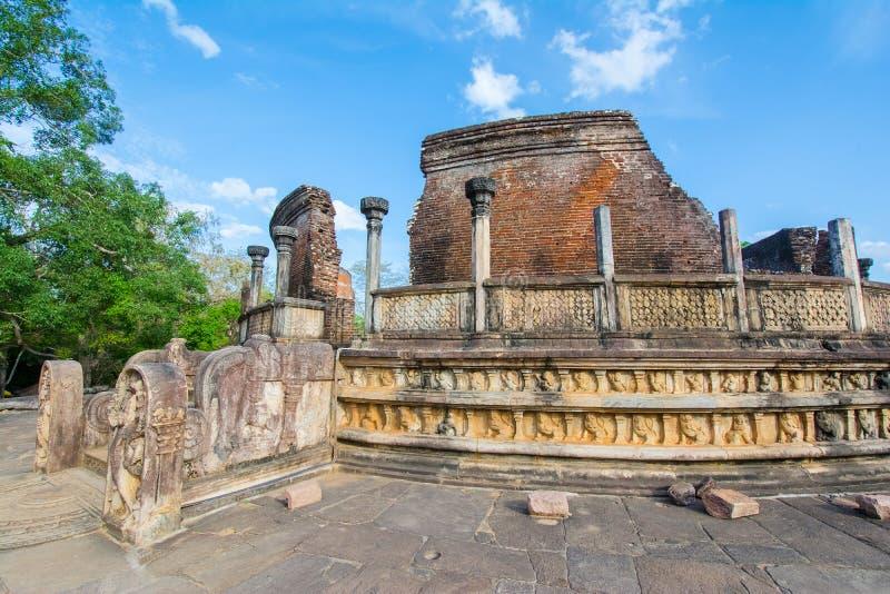 The Ruins Of Polonnaruwa in Sri Lanka. The Ruins Of Polonnaruwa, Sri Lanka. Polonnaruwa Is The Second Most Ancient Of Sri Lankas Kingdoms stock image