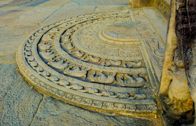 The Ruins Of Polonnaruwa in Sri Lanka. The Ruins Of Polonnaruwa, Sri Lanka. Polonnaruwa Is The Second Most Ancient Of Sri Lankas Kingdoms royalty free stock image
