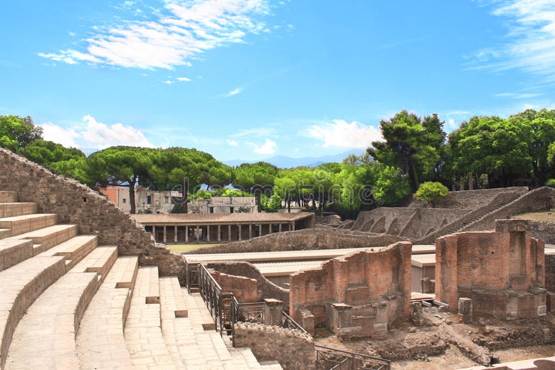 Ruins of Pompeii royalty free stock photo