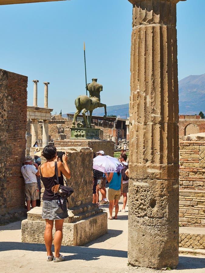 Ruins of Pompeii, ancient Roman city. Pompei, Campania. Italy. stock images