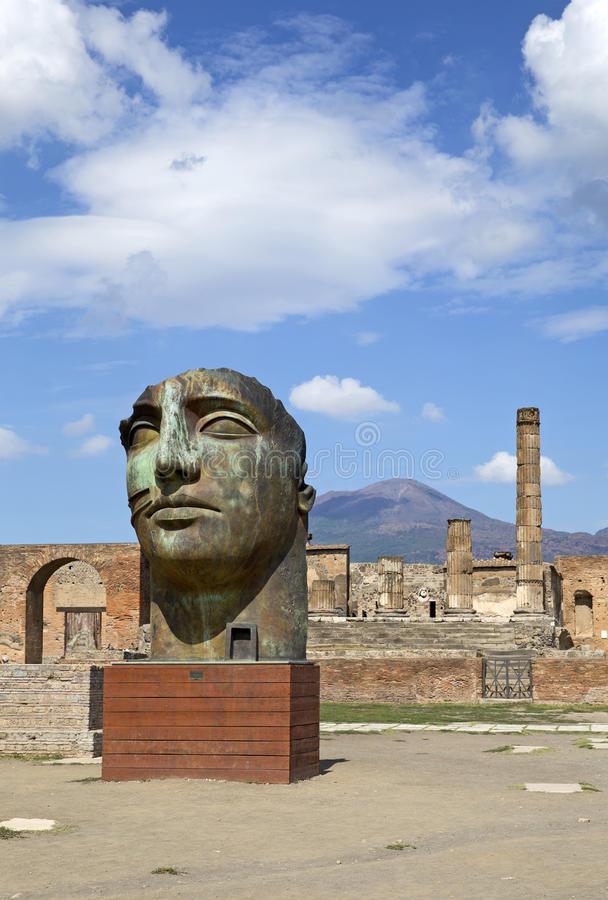 Ruins of Pompeii stock photography