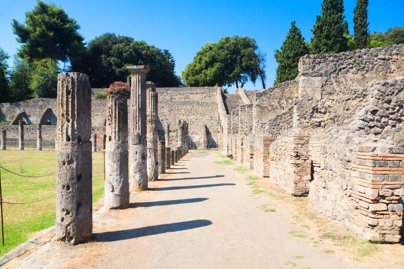 Ruins of Pompeii Italy stock photo