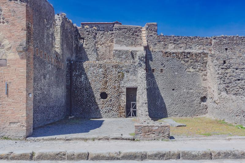 Ruins of Pompeii, italy. Ancient ruins of Pompeii, italy royalty free stock photo