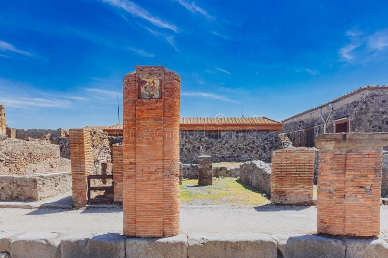 Ruins of Pompeii, italy. Ancient ruins of Pompeii, italy royalty free stock photos