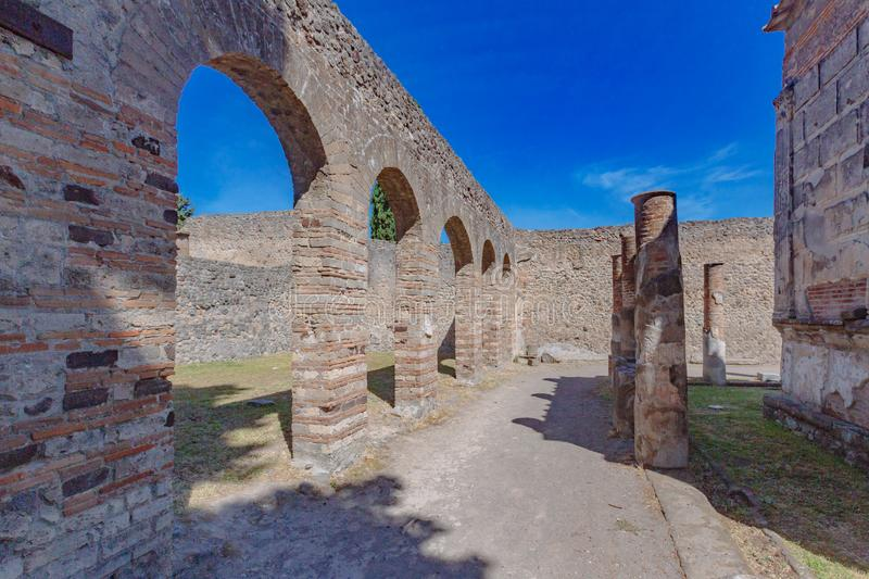 Ruins of Pompeii, italy. Ancient ruins of Pompeii, italy stock photo