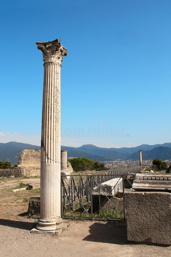 Ruins of Pompeii, Italy royalty free stock images