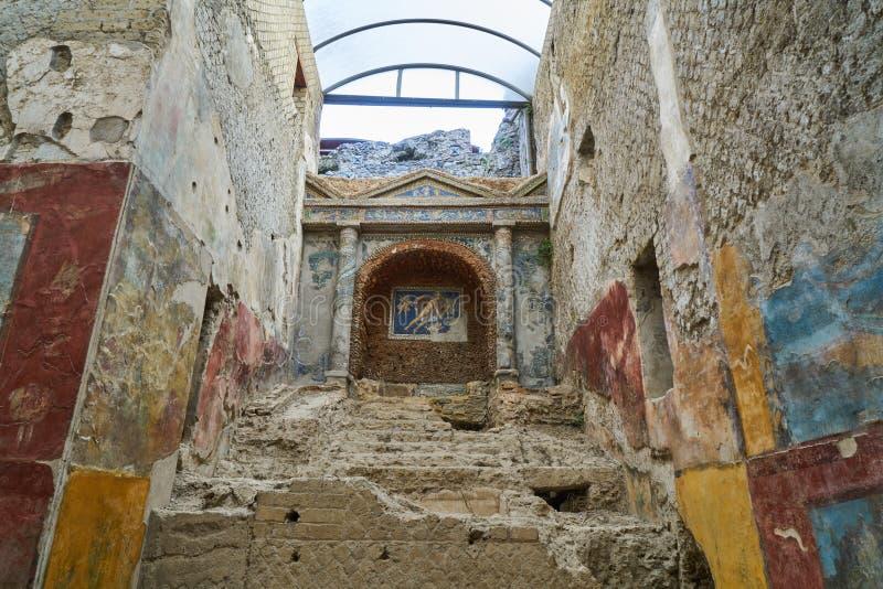Ruins of Pompeii, Italy stock photo
