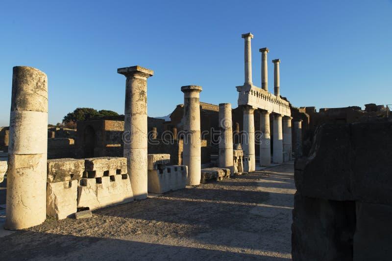 Ruins of Pompeii, Italy royalty free stock photo