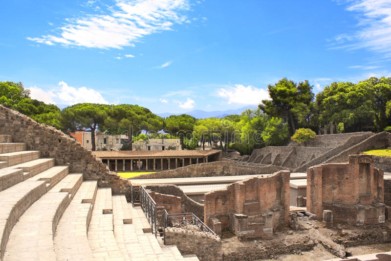 Ruins of Pompeii stock image