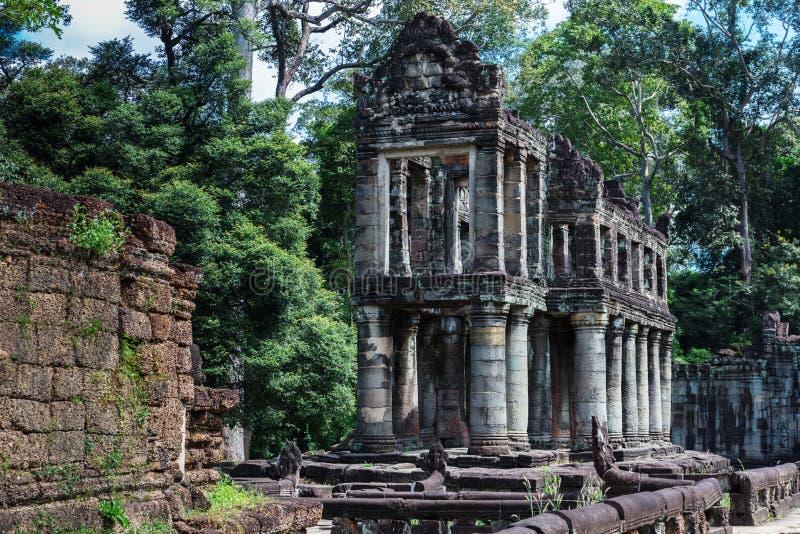Ruins Preah Khan temple. Ruins ancient Preah Khan temple in Angkor stock images