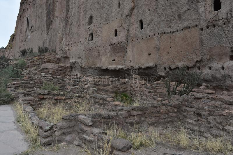 Ruins Remaining from the Ancient Cliff Dwellings in New Mexico. Ancient ruins remaining from the cliff dwellings in New Mexico stock images