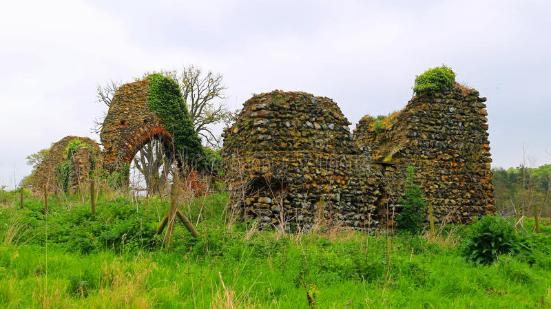 Ruins. Remains of St Saviours Church, Surlingham. Ancient ruins half hidden in the marshes royalty free stock photography